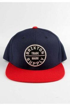 Brixton Clothing Oath III Snapback Hat - Navy Red  28.00  brixton 8f0eb58d37