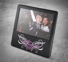 Printed graphics and crystal accents are the perfect complement to your favorite memories. | Harley-Davidson #PinkLabel Limited Edition Photo Frame