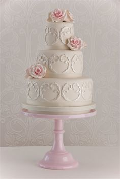 Image detail for -maisie fantaisie shabby chic cakes Wedding Cake Roses, Beautiful Wedding Cakes, Gorgeous Cakes, Pretty Cakes, Amazing Cakes, Rose Wedding, Chic Wedding, French Wedding, Elegant Wedding
