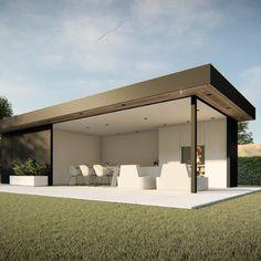 Modern Pools, Modern Pool House, Modern Pergola, Outdoor Kitchen Design, Patio Design, Garden Pavilion, Box Houses, Building A Wooden House, Modern Gazebo