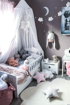 Star pillow to buy on Etsy - HappySpacesWorkshop - scandinavian kids room decor, pastel girls room ideas, pink and grey girls room, nursery, home decor, home interior, kids decor