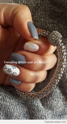 Are you looking for a nail art gel? So hurry up and take a look at our collection & The post Are you looking for a nail art gel? So hurry up and take a look at & appeared first on All Photos Hande Akılsepeti. Grey Nail Art, Pink Nail Art, White Nail Designs, Simple Nail Art Designs, Simple Art, Fun Nails, Pretty Nails, Gorgeous Nails, Nail Art Blanc