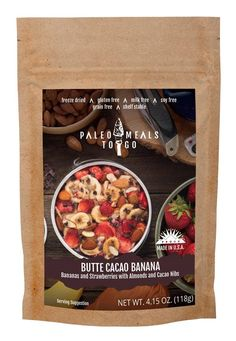 Butte Cacao Banana | MRE Meal | intrigued by these freeze dried paleo meals.