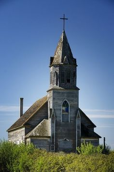 廢棄的教堂在薩斯喀徹溫省通過金Hamilton55