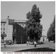 "Hotel ""Orijent"" at the corner of Sarajevska and Nemanjina street in Belgrade in 1963 ~ Serbia"