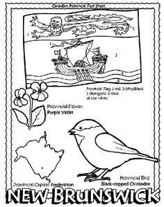 Canadian Province - New Brunswick coloring page Helpful for memory work with Claritas Classical Academy Cycle 3 Geography http://claritasclassicalacademy.com/Curriculum.html