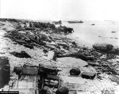All abandoned or destroyed equipment on Omaha Beach Juno Beach, Dog Beach, D Day 1944, Omaha Beach, D Day Normandy, Normandy Invasion, D Day Landings, Ww2 Pictures, Interesting History