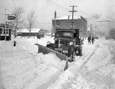 1939 Dodge Truck plowing snow