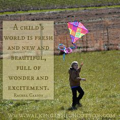 """""""A child's world is fresh and new and beautiful, full of wonder and excitemnt."""" by Rachel Carson. #farmkids #farmgirl #homesteading Rachel Carson, Farm Kids, Soap Making, Homesteading, How To Become, Parenting, This Or That Questions, News, Children"""