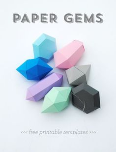 Paper gems // New templates (large & small!) I need to do some paper crafting!