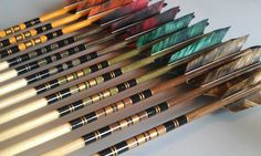 Superb custom crested archery arrows and other traditional archery equipment