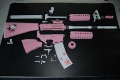 "hello-kitty-AR-15.  I need one of these for daughter #5... I'd call it the ""Hello Katy"" AR-15."