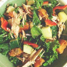 Sesame-Soy Kale Chicken Salad