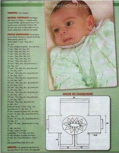 Receita de Tricô: Casaquinho de bebê em tricô                                                                                                                                                                                 Mais