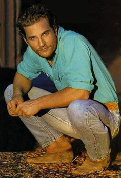 Matthew McConaughey- sometimes he looks dirty, sometimes he's yummy!