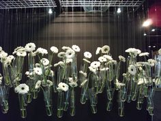 I didn't actually see this in a store.(Although I saw something strikingly familiar at 18 Karat on South Granville in Vancouver BC) I saw this at a Design Trade show: IDSWest. It made an incredible statement. The white flowers, the uplighting. Just unexpected and so beautiful.
