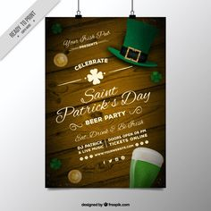 62be47e7938 Freebie  5 Free Flyer   Poster Templates for St. Patrick s Day