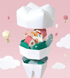 2019 Dental Calendar paper art project on Behance Dental Life, Dental Art, Dental Hygiene, Art Calendar, Calendar Design, Dentist Website, Dental Clinic Logo, Dental Quotes, Dental Photography