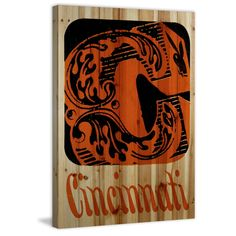 Marmont Hill 'Cincinnati' Playboy Art Printed on Pine