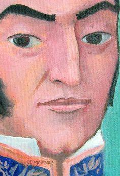 Jose de San Martin. Cuadro de la Serie Historia Argentina hecho por Diego Manuel