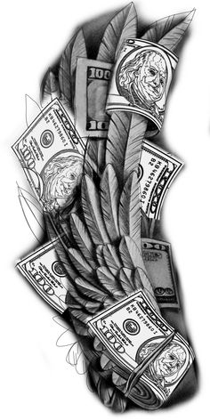 Card Tattoo Designs, Half Sleeve Tattoos Designs, Tattoo Design Drawings, Tattoo Designs Men, Acab Tattoo, Full Tattoo, Money Tattoo, Gangsta Tattoos, Dope Tattoos