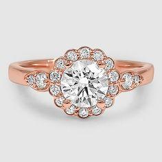 14K Rose Gold Camillia Diamond Ring (1/4 ct. tw.)