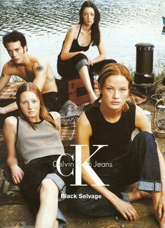 MAGGIE RIZER, AUDREY MARNAY & CAROLYN MURPHY FOR CALVIN KLEIN SS 1998