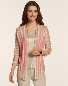 Chico's Mesh Suki Stitch Cardigan #chicos