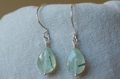 A simple green pair.  http://www.etsy.com/listing/162310412/sterling-silver-and-prehnite-with