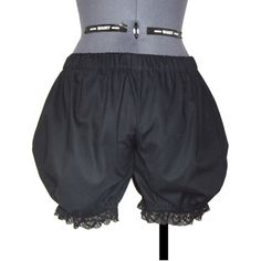 Gothic Lolita Bloomers Pants ($29) ❤ liked on Polyvore featuring pants, lace pants, lace trousers, gothic pants and goth pants