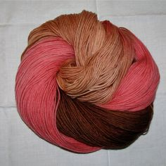 Hand dyed superwash sock yarn LATE FALL I by vieuxrouet on Etsy