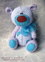 мишка с заплатками тедди вязаный крючком мк описание teddy bear with patches crochet pattern