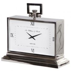 This oversized replica fob watch mantel clock has a classic Art Deco style with its white face & rectangular shape. Place on any console table for a sleek & contemporary look. Home Office, Ring Clock, Shabby Chic Clock, Mantel Clocks, Mantle, Contemporary Style Homes, Art Deco Design, Viera, Nickel Finish