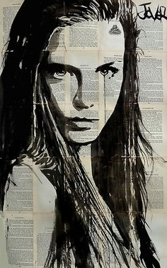 Usng non traditional paper - old books and charcoal Saatchi Online Artist Loui Jover; Saatchi Online, Newspaper Art, Wow Art, Arte Pop, Art Plastique, Oeuvre D'art, Amazing Art, Art Drawings, Saatchi Art