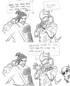2/2 Overwatch Comic Strip  Hanzo, Genji and D.VA  Say that again Genji with the salt on the side.  Artist: Shattered-Earth