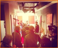 """Carlos Pena And James Maslow On The Set Of """"Big Time Rush"""" January 15, 2013"""