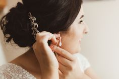 Close up of our Bride's teardrop pearl earing and wedding hair style  Photography by Alex Zarodov Photography Wedding Gallery, Wedding Blog, Wedding Planner, Perfect Engagement Ring, Engagement Couple, Civil Ceremony, Wedding Ceremony, On Your Wedding Day, Perfect Wedding