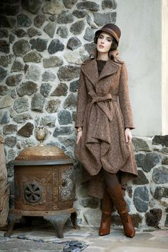 Glam Slam High/Low Tweed Wool Coat Tailor and Stylist collection found at http://www.tands.com/collections/outerwear/products/glam-slam-high-low-tweed-jacket