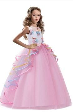 Girls Pink Unicorn Birthday Gown Preorder 4 to 14 Years (Girls Unicorn Dress Costumes). Unicorn Dress Girls, Girl Unicorn Costume, Unicorn Outfit, Unicorn Themed Birthday, Fantasias Halloween, Princess Dress Kids, Toddler Girl Outfits, Birthday Dresses, Pink Girl