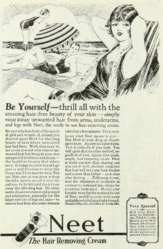 Vintage Advert for Neet Hair Removal Cream : Photoplay 1925 by CharmaineZoe, via Flickr