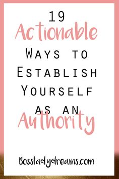 19 Actionable Ways to Establish Yourself as an Authority // You see it all the time on the internet... internet mavens who are experts on everything under the sun.  But what are you an expert on?  If you have a niched blog, you should be writing about what you're an expert on! And believe me, everyone is an expert on something.  Check out my blog post to find out how you can make yourself look like an expert, no matter what your niche is!