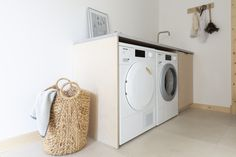 Influencer Hege Morris from Hege in France chose our Miele PWash Washing Machine and Active Plus Tumble Dryer for her new scandi style utility room makeover. Both aesthetically pleasing and loaded with technology, they were the ideal choice Ikea Units, Mad About The House, Washing Machine And Dryer, Small Sink, Hidden Rooms, Scandi Style, Laundry Room, France, Technology