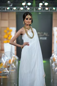 Simple Draped Saree Gown design - good for resort