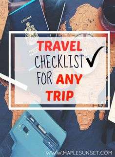 Be prepared for your next trip! Double-check you have everything with this travel checklist