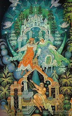 """Сказка """"Солнце, Месяц и Ворон Воронович"""" http://russkaja-skazka.ru/solnce-mesyac-i-voron-voronovich/ На другой день пошёл старик в гости ко второй дочери. Обрадовался Месяц и говорит: «Чем тебя угощать, батюшка?» — Я ничего не хочу, – отвечает старик, — Вот если бы мне в баньке попариться с дороги!» Месяц затопил для него баню. Старик говорит: — Темно в бане-то! А Месяц отвечает: — Ничего, ступай, светло будет! Пошёл старик в баню, а Месяц просунул палец в щёлочку, и оттого в бане…"""