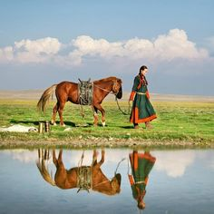 inner-mongolia - mongolian young couple wedding photos  - by khoshutsuld   https://www.flickr.com/people/25125520@N03/
