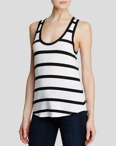 Dylan Gray Striped Dressy Tank