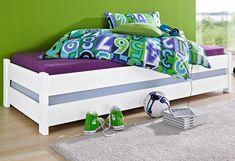 Stapelliege (2 Stck.) für 199,99€. 2 stapelbare Betten, Liegefläche je 90/200 cm, Platzsparend, Ideal für das Jugendzimmer oder als Gästebett bei OTTO
