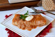 Hortobagy Palacsinta - hungarian veal stew in crepes