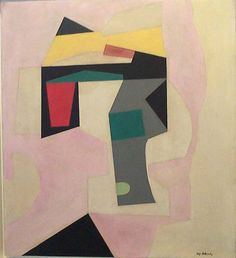 Abstraction in Pink, 1939, oil and gesso on masonite, 30 x 27 in.